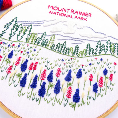 Mount Rainier National Park Hand Embroidery Pattern
