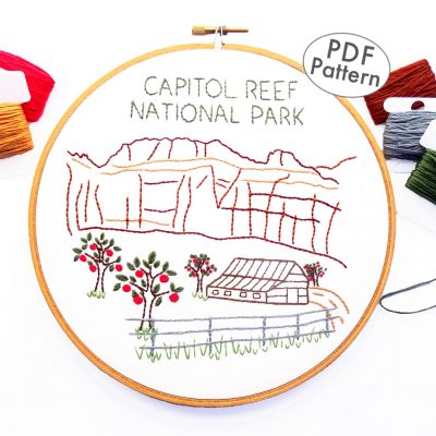 Capitol Reef National Park Hand Embroidery Pattern