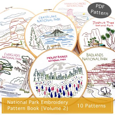 National Park Embroidery Pattern Book Volume 2