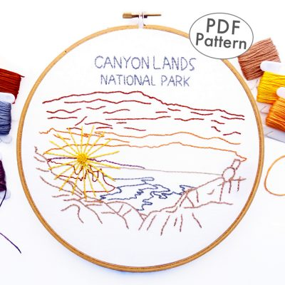 Canyonlands National Park Hand Embroidery Pattern