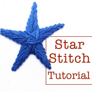 Star Stitch Embroidery Tutorial