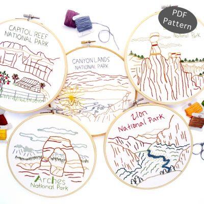 Utah National Park Hand Embroidery ebook