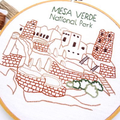 Mesa Verde National Park Hand Embroidery Pattern