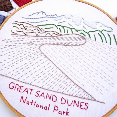 Great Sand Dunes National Park Hand Embroidery Pattern