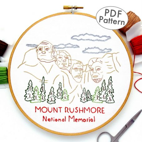 Mount Rushmore National Memorial Hand Embroidery Pattern