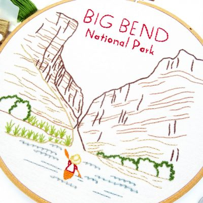 Big Bend National Park Hand Embroidery Pattern