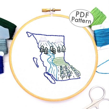 British Columbia Hand Embroidery Pattern