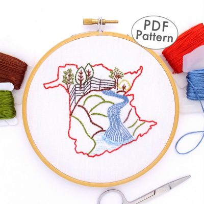 New Brunswick Hand Embroidery Pattern