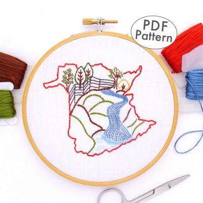 New Brunswick Hand Embroidery Pattern