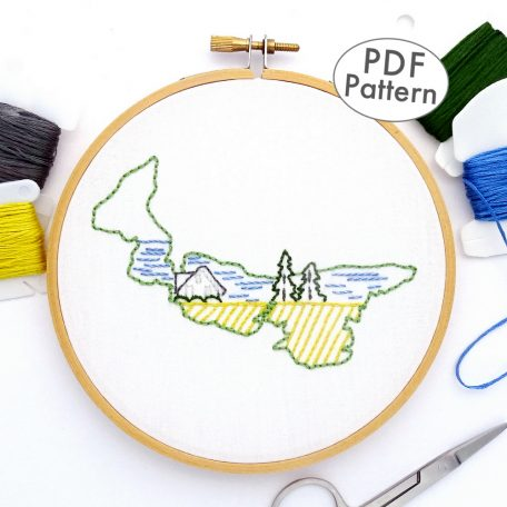 Prince Edward Island Hand Embroidery Pattern