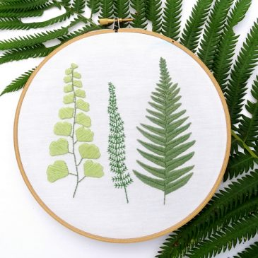 FREE Embroidery Pattern: Botanical Ferns