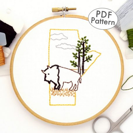 Manitoba Hand Embroidery Pattern