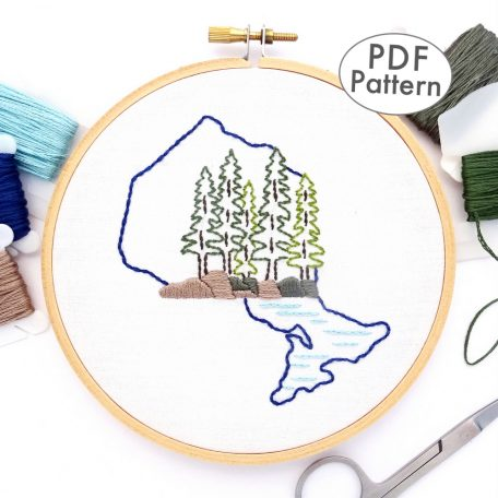 Ontario Hand Embroidery Pattern