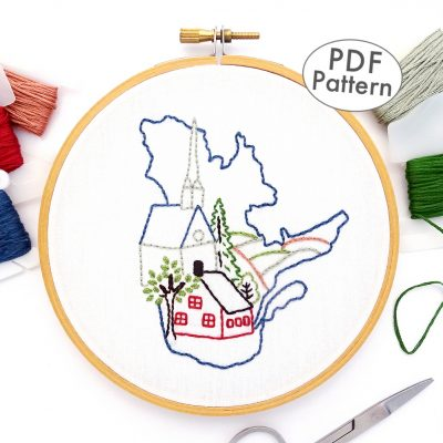 Quebec Hand Embroidery Pattern