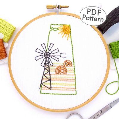 Saskatchewan Hand Embroidery Pattern