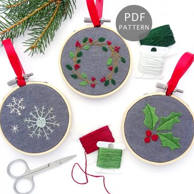Botanical Ornament Set Hand Embroidery Pattern