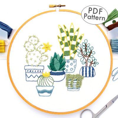 Desert Garden Hand Embroidery Pattern