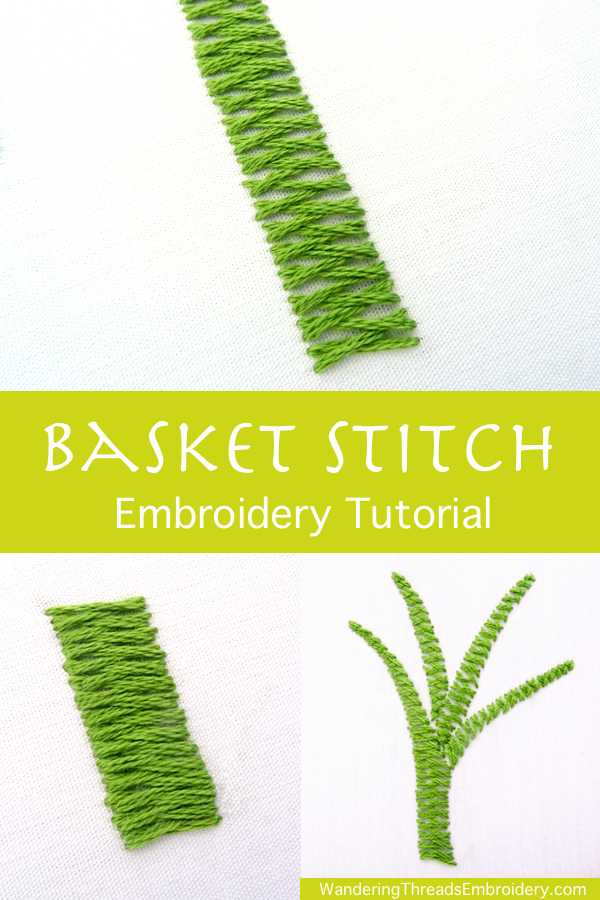 Basket Stitch Embroidery Tutorial
