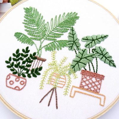 Tropical Leaves Hand Embroidery Pattern