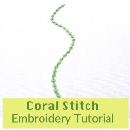 Coral Stitch Embroidery Tutorial