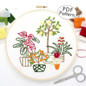 Flowers & Fruit Hand Embroidery Pattern