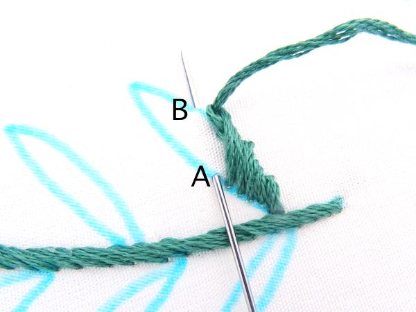 Rope Stitch Leaf