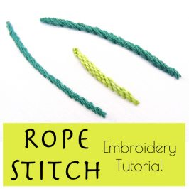 Rope Stitch Embroidery Tutorial