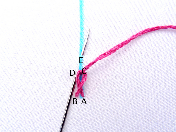 Twisted Chain Stitch Embroidery Tutorial