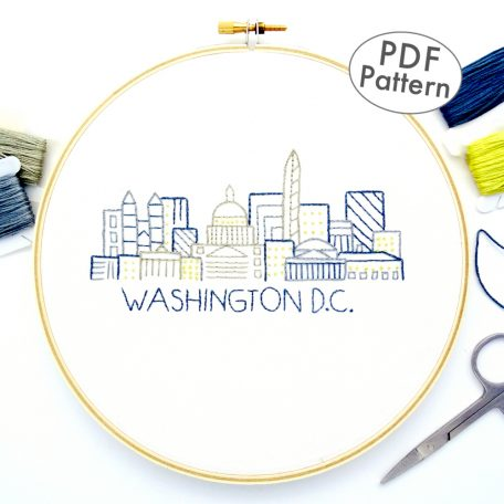 Washington D.C. Hand Embroidery Pattern