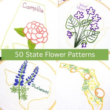 50 State Flower Patterns