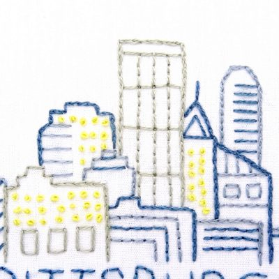 Pittsburgh Skyline Hand Embroidery Pattern