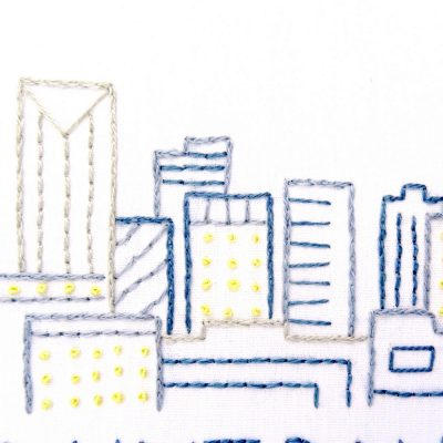 Saint Paul Skyline Hand Embroidery Pattern
