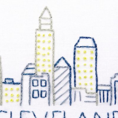 Cleveland City Skyline Hand Embroidery Pattern