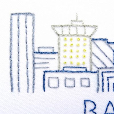 Baltimore City Skyline Hand Embroidery Pattern