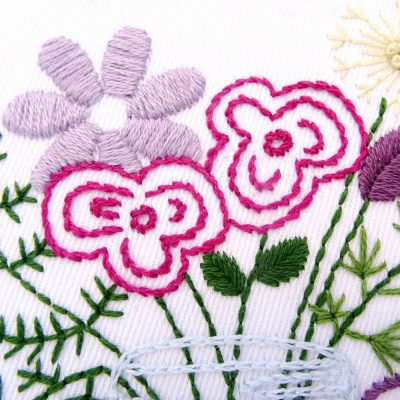 Wildflower Bouquet Hand Embroidery Pattern