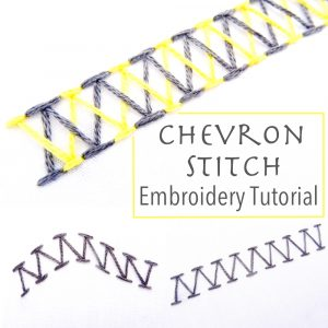 Chevron Stitch Embroidery Tutorial
