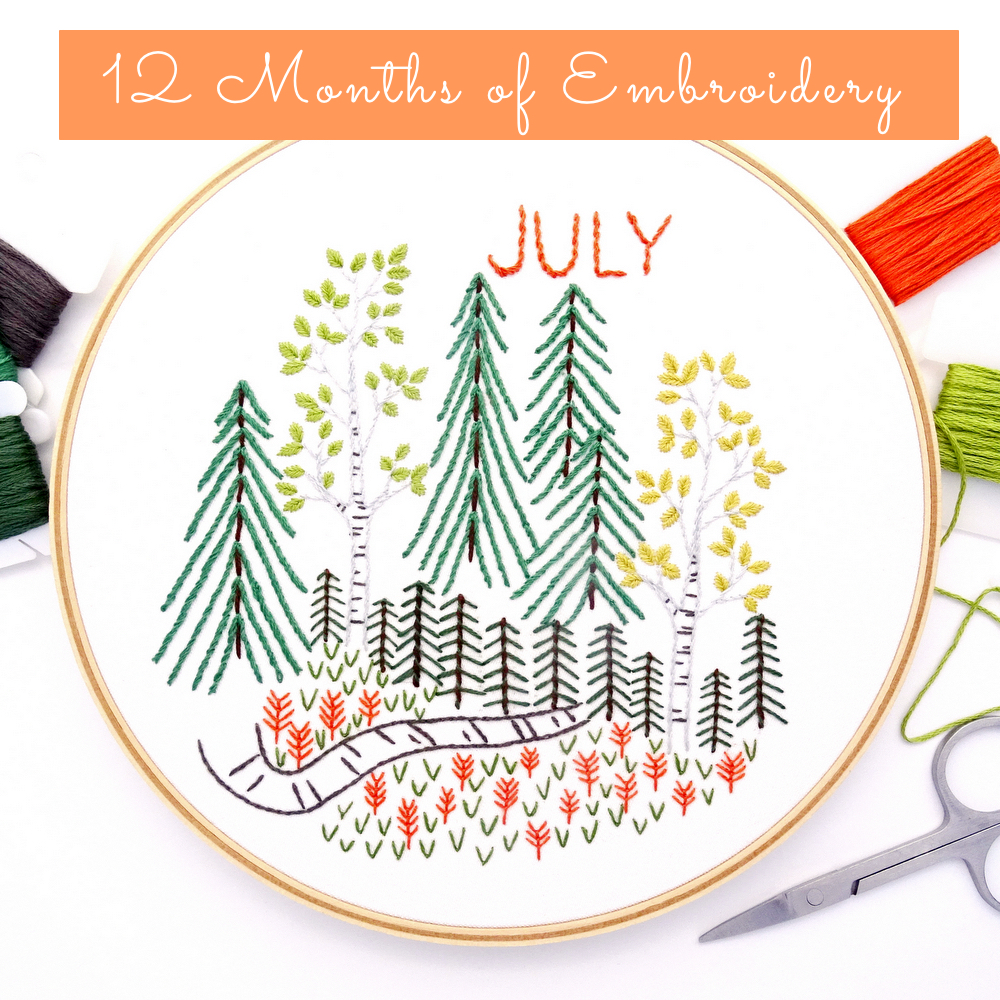12 Months of Embroidery