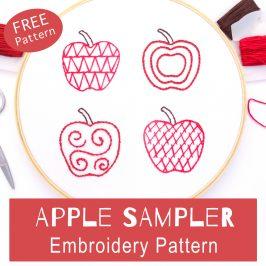 Apple Sampler Embroidery Pattern
