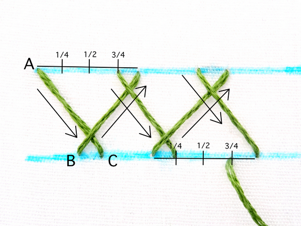 Herringbone Stitch Embroidery Tutorial
