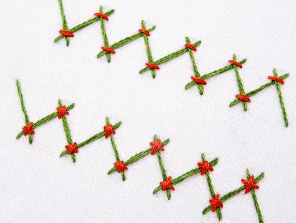 Tacked Herringbone Stitch