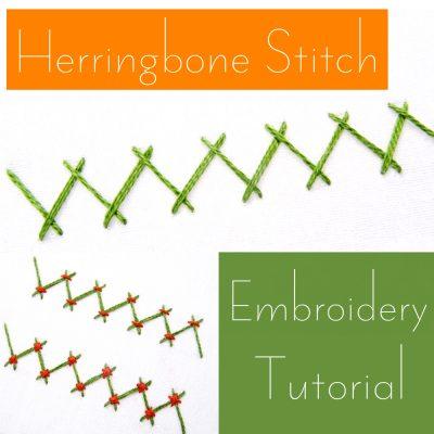 Herringbone Stitch Embroidery Tutorial