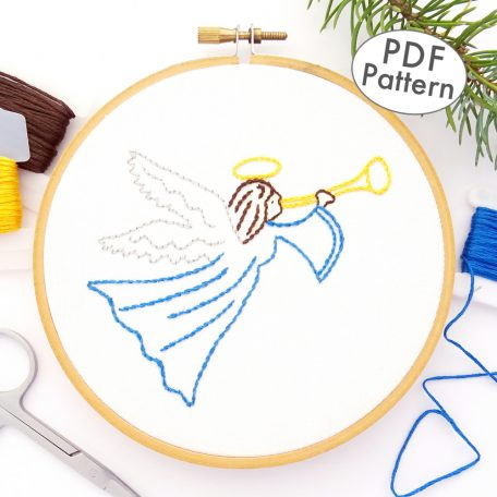 Christmas Angel Hand Embroidery Pattern