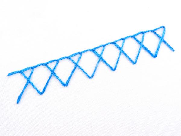 Crossed Blanket Stitch