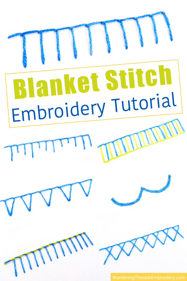 Blanket Stitch Embroidery Tutorial