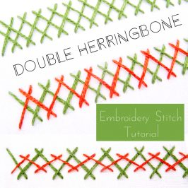 Double Herringbone Stitch Tutorial
