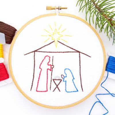 Christmas Nativity & Angel Hand Embroidery Patterns