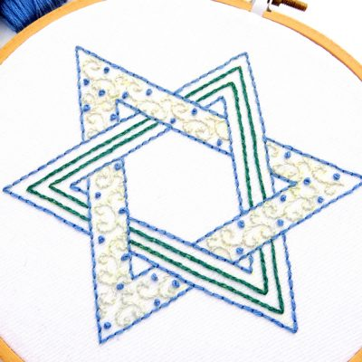 Star of David Hand Embroidery Pattern