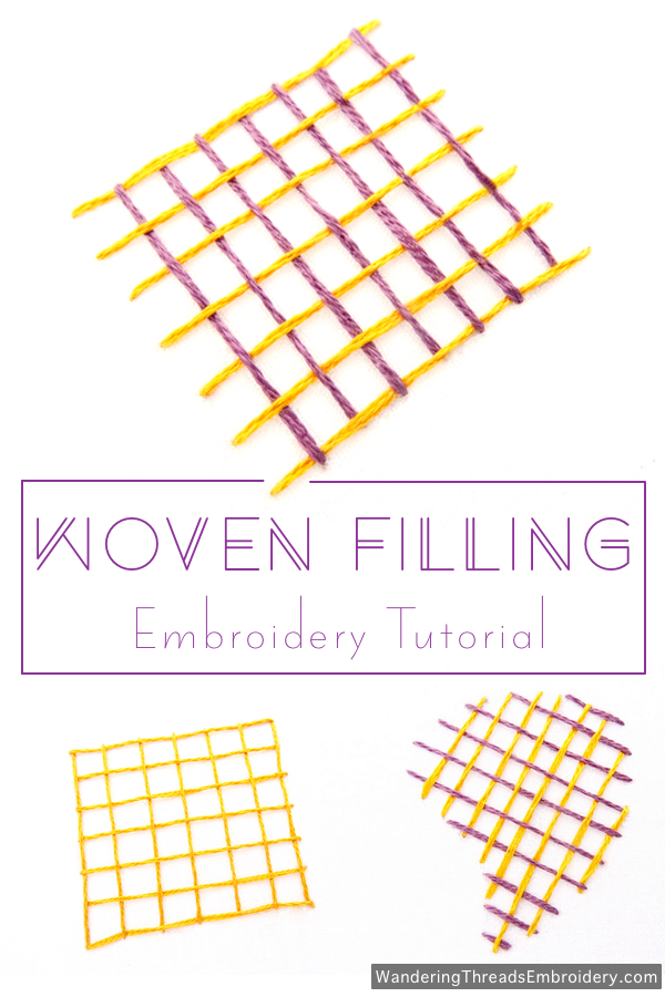 Woven Filling Stitch Embroidery Tutorial