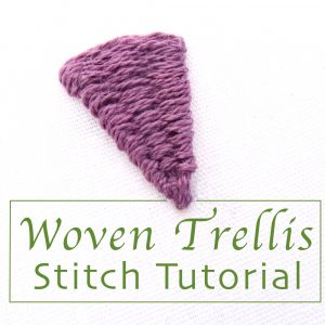 Woven Trellis Stitch Tutorial