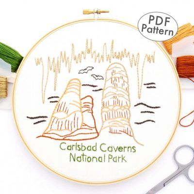 Carlsbad Caverns National Park Hand Embroidery Pattern